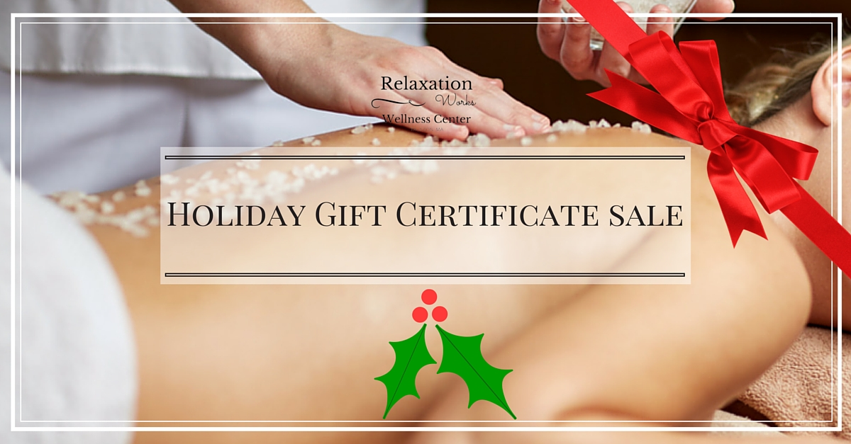 2016 Holiday Gift Certificate Sale!
